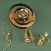 Brass Bell with Flower Disc