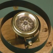 Brass Bell with Flower Disc