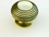 Brass Cupboard Door Knob - Large Beehive