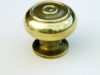 Brass Cupboard Door Knob - Small Bloxwich