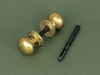Brass Cottage Door Knob - Small