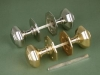 Brass & Nickel Octagonal Door Knobs