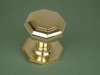 Brass Large Octagonal Centre Door Knob