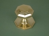 Brass Small Octagonal Centre Door Knob