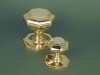 Brass Large & Small Octagonal Centre Door Knob Set