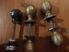 Original Reclaimed Brass Beehive Door Knobs