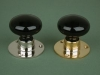 Glass Door Knob Black - Rose Smooth