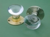 Glass Door Knob Clear - Rose Smooth & Ribbed