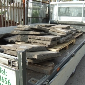A delivery of Welsh flagstone