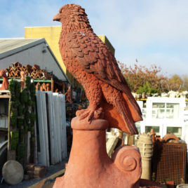 Hawk Bird Roof Ridge Finial Tile Stone Garden Ornament
