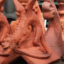 Dragon Roof Ridge Tile Finials Stone Garden Ornament