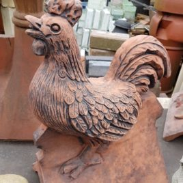 Cockerel Hen Roof Ridge Tile Finials Stone Garden Ornament